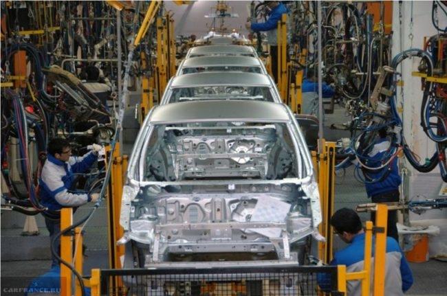 Завод Шевроле в Осаке производственная линия