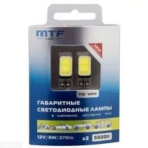 Габаритные лампы производства MTF-Light W5W COB для Шевроле Лачетти