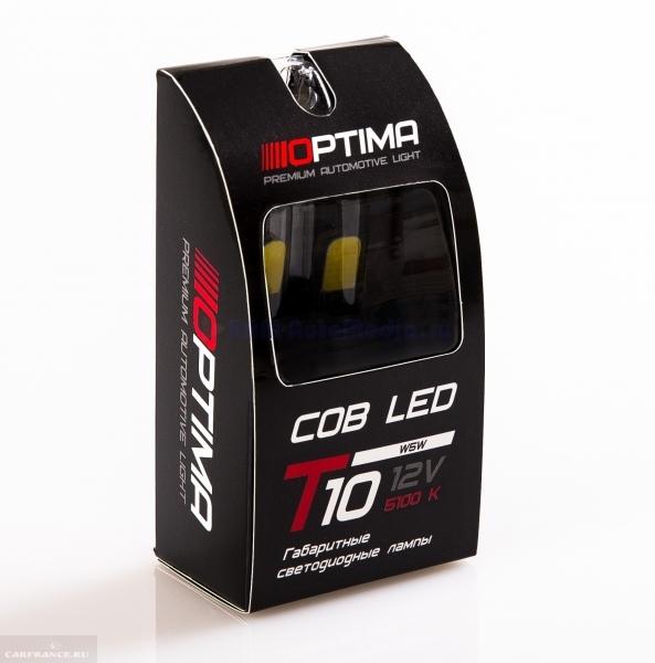 Габаритные лампы производства Optima W5W COB для Шевроле Лачетти