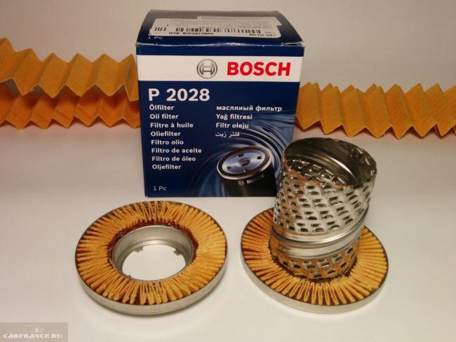 Масляный фильтр Bosch 0 986 452 044 в разрезе на Форд Фокус 2