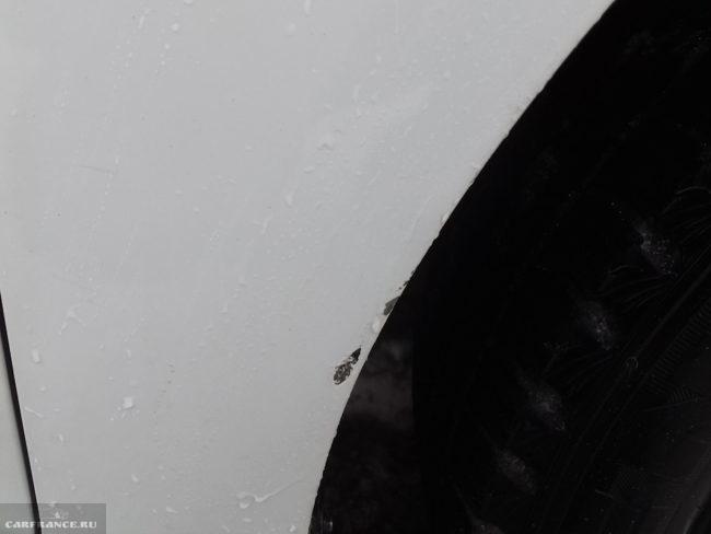 Скол на переднем правом крыле и оцинкованный кузов на Шевроле Круз