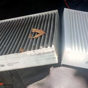 Старый и новый салонные фильтры на Шевроле Круз