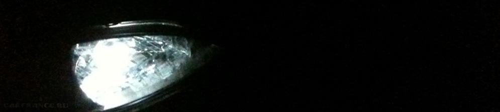 Габаритные диодные огни на Шевроле Лачетти
