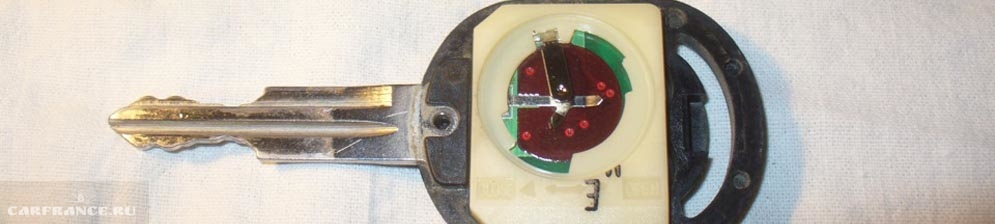 Посадочное место батарейки в ключе Шевроле Лачетти