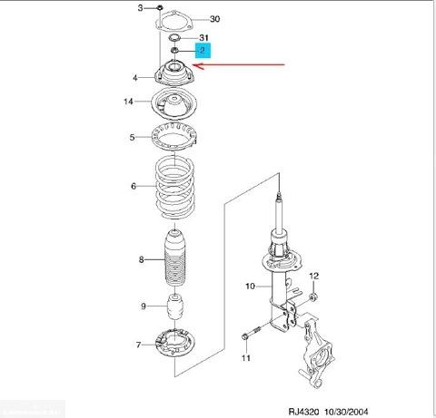 Схема проставок Шевроле Лачетти
