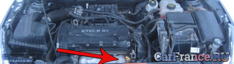 где посмотреть номер двигателя у chevrolet aveo