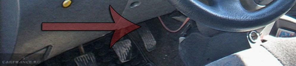 Педаль газа на Шевроле Ланос