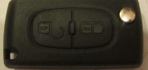 Радио-ключ на Пежо 307