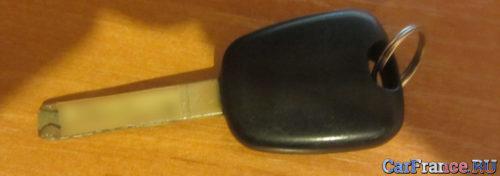 Родной ключ без радио Пежо 307