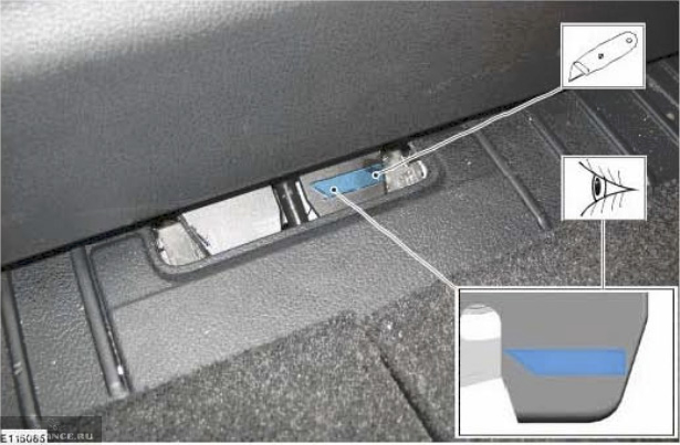 Схема открытия багажника Форд Фокус 2