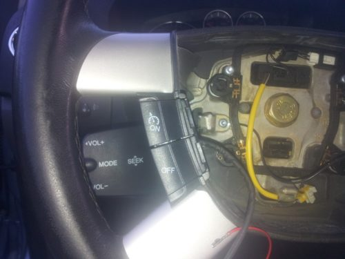 Установка кнопок управления круиз контролем Форд Фокус 2