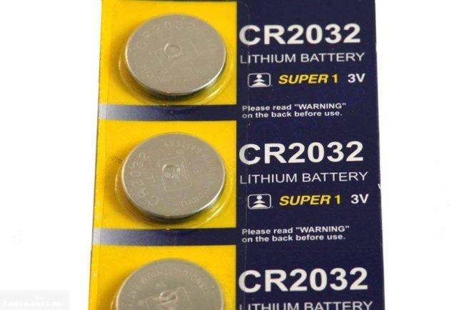 Новые батарейки 3V CR 2032 для ключа Форд Фокус 2