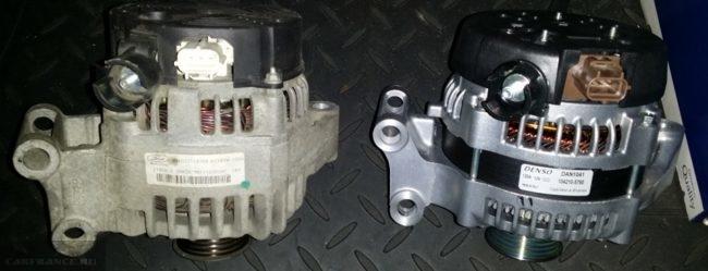 Новый 120 амперный генератор и старый на 105 Ампер Форд Фокус 2