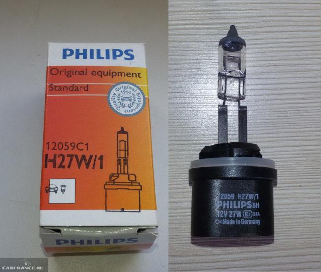Лампа в противотуманку Philips