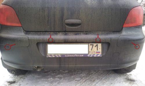 Вариант установки заднего парктроника на Пежо 307