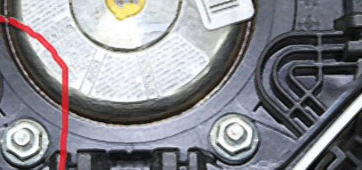 Демонтированная подушка безопасности на Форд Фокус 2