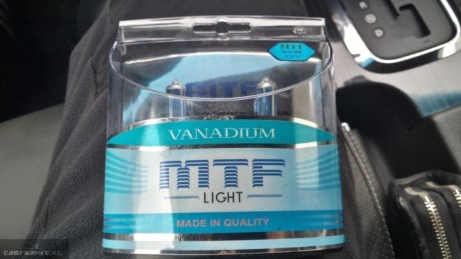 Лампа ПТФ Галогенная MTF-Light Vanadium H11