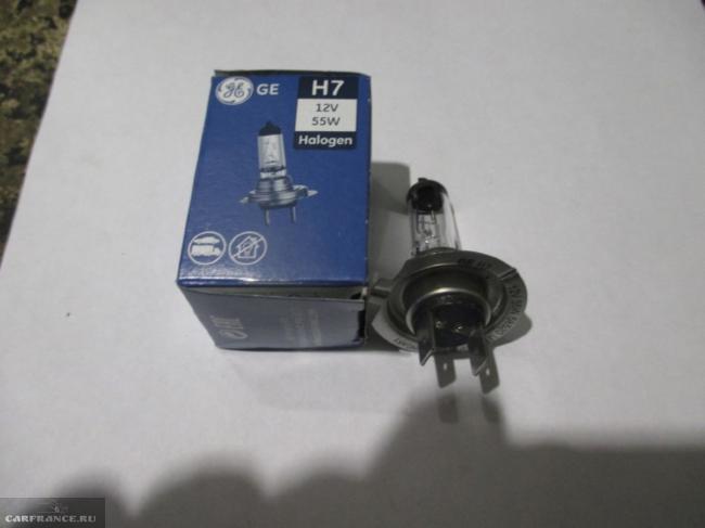 лампа ближнего света с цоколем H7 General Electric 17123 для форд фокус 2