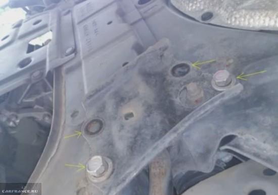 Демонтаж металлической защиты Тойота Королла