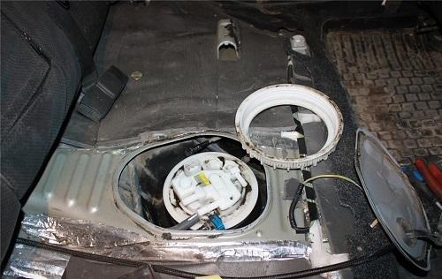Демонтаж топливных элементов Тойота Королла 150