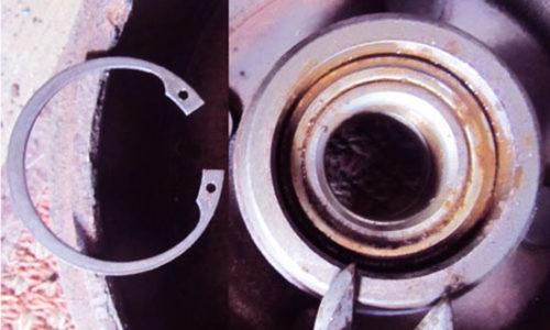 Демонтаж стопорного кольца Форд Фьюжн