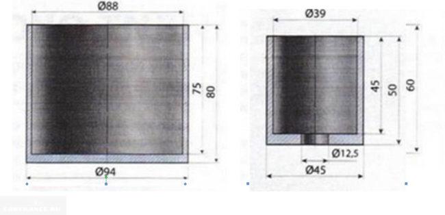 Опрессовка для сайлентблока рычага переднего задний Форд Фокус 2