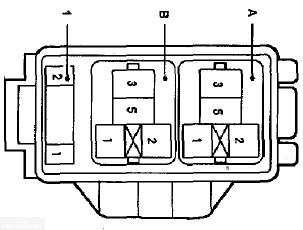 Реле блока предохранителей Тойота Королла Е120