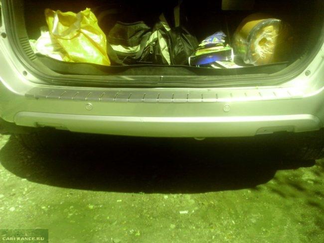 Чистый задний бампер на Форд Фьюжн