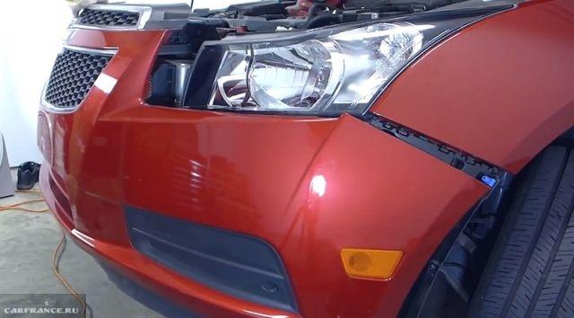 Самостоятельное снятие переднего бампера на автомобиле Шевроле Круз