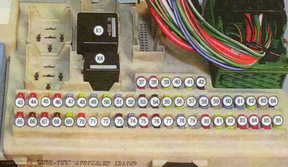 Схема монтажного блока дорестайл Форд Фокус 2