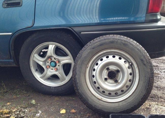 Два колеса для Дэу Нексия