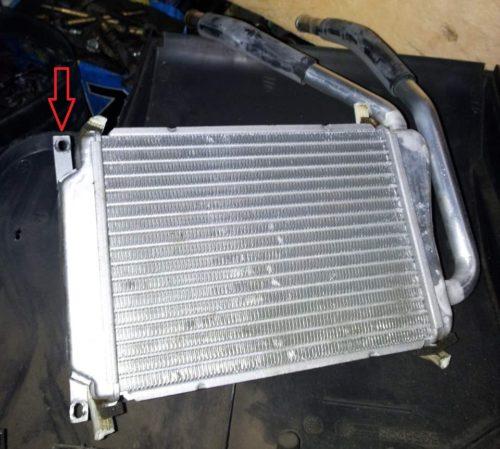 Радиатор отопителя с крепежными элементами для Дэу Нексия