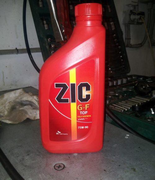 Масло zic для механической коробки передач дэу нексия