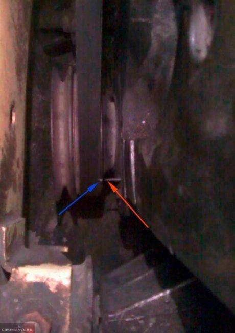 Метки для установки угла опережения зажигания в Дэу Нексия