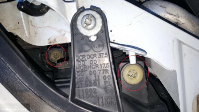 Месторасположение регулировочных винтов на Форд Фокус 2