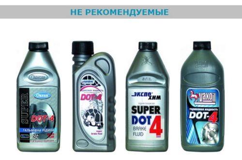 Эти тормозные жидкости не стоит использовать для Форд Фокус 2