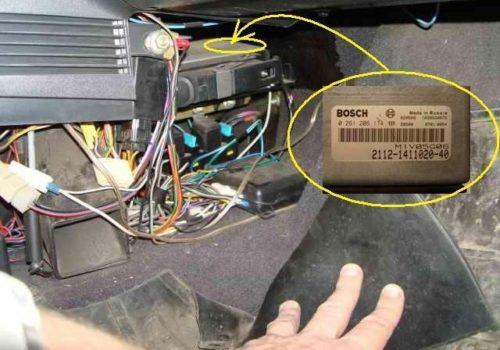 Месторасположение блока электронного управления в ВАЗ-2110