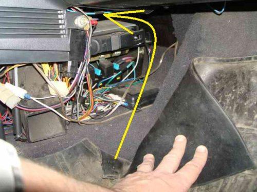 Месторасположение иммобилайзера в автомобиле ВАЗ-2110