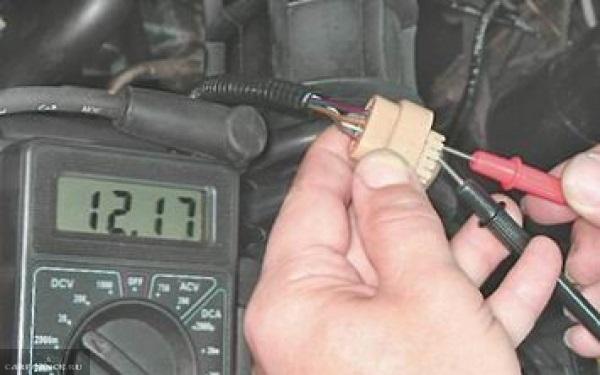 Прозвонка колодки проводов от модуля зажигания в ВАЗ-2110