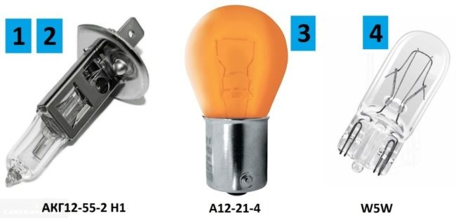 Лампы для блок-фары автомобиля ВАЗ-2110