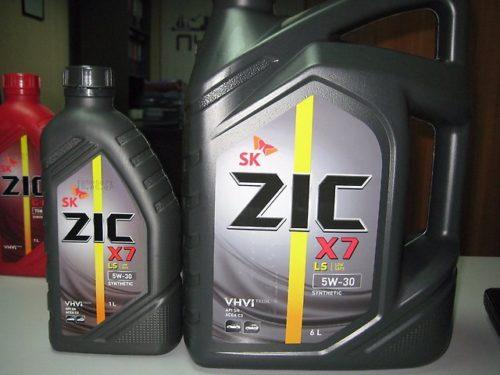 Две канистры по 7 и 1 л масла Zic для Дэу Нексия