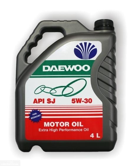 Родное масло TOTAL DAEWOO motor oil 5W30 для Дэу Нексия