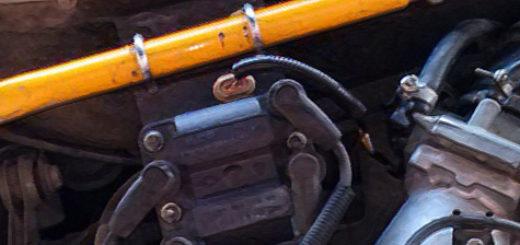 Модуль зажигания под капотом ВАЗ-2110 16 клапанов перенесён выше