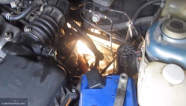 Подготовка к подтяжке рулевой рейки на ВАЗ-2110
