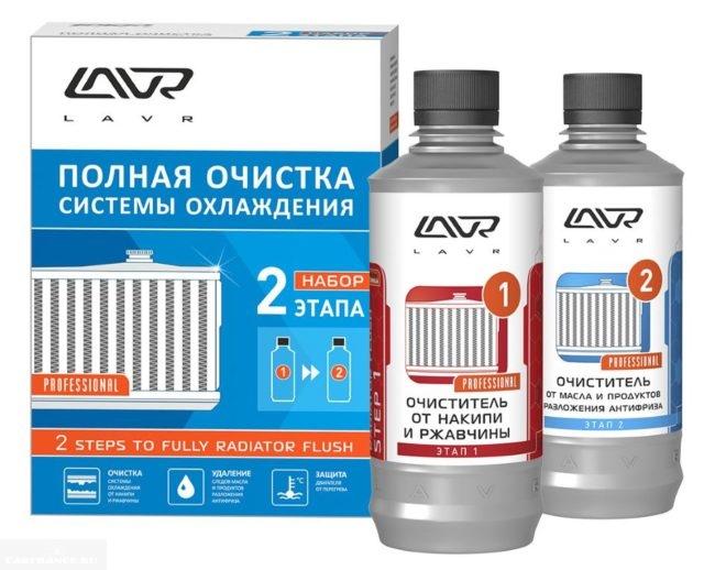 Двухкомпонентная промывка для системы охлаждения ВАЗ-2110