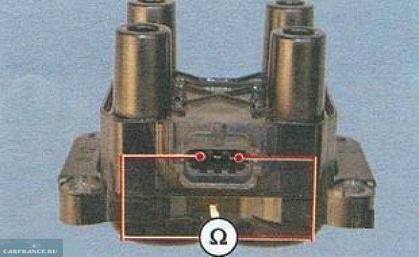 Проверка обмоток модуля зажигания 8 клапанного двигателя ВАЗ-2110