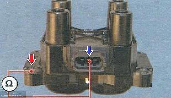 Тестирование модуля зажигания ВАЗ-2110 на предмет короткого замыкания.
