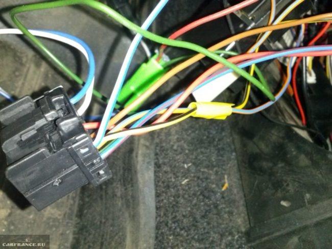 Провода от коннектора иммобилайзера ВАЗ-2110