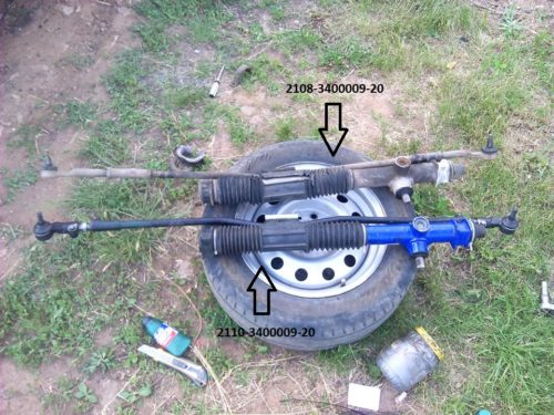 Сравнение рулевых реек для ВАЗ-2110