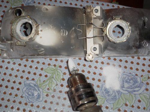 Переделка отражателя фары ВАЗ-2110 под лампу Н7